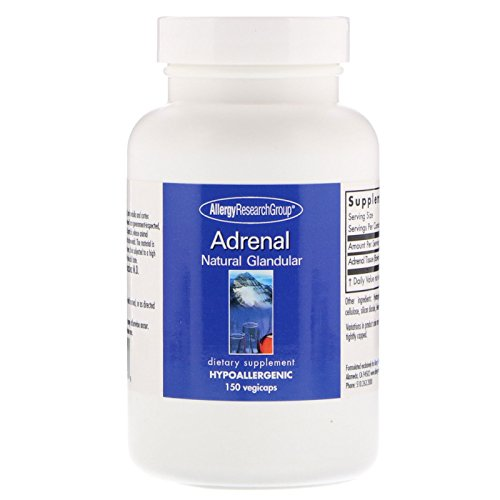 Allergy Research Group Adrenal Natural Glandular 100 mg 150 Kapseln