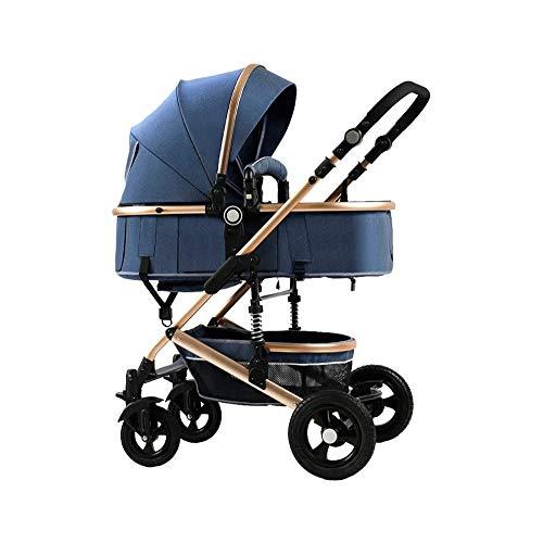 Buy Bargain LKNJLL 2 in 1 Baby Stroller,High Landscape Infant Stroller & Reversible Pram,Foldable Pu...