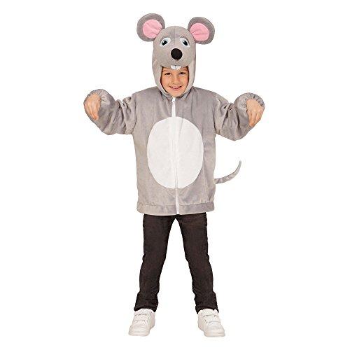 WIDMANN 97467?Disfraz para niños Ratón de peluche, chaqueta con capucha y máscara , color/modelo surtido