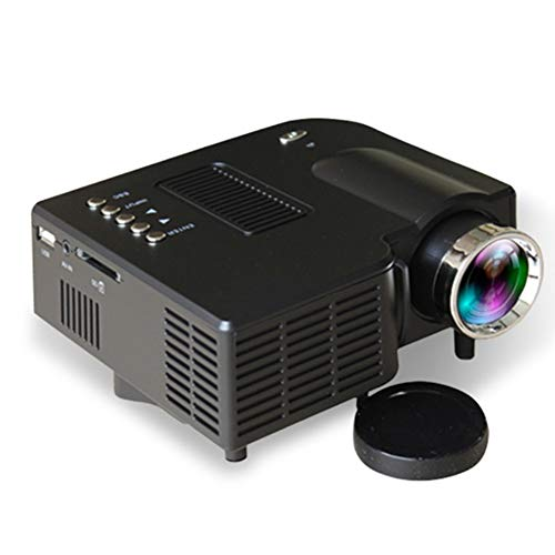 Lowest Prices! YYZLG Portable Projector Home Mini Projector Mini Led Hd 1080p Handheld Projector-Bla...