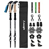 Aneagle Paceleader Trekking Poles - 2pcs Pack Strong Aircraft Aluminum Ultra Lightweight Adjustable Hiking Poles or Collapsible Walking Sticks with Extended Eva Cork Grips Adjust Quick Locks