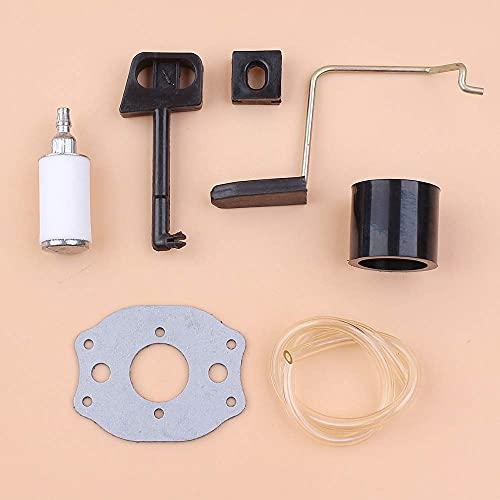Kit de colector de admisión de nivel de varilla de estrangulador del acelerador apto para Husqvarna 136, 137, 141, 142, 36 41, piezas de motosierra # 530029831