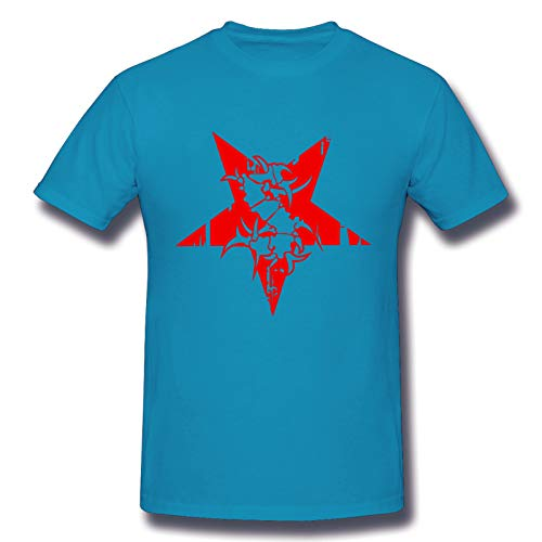 Sepultura Logo Star Men's Basic Short Sleeve T-Shirt Fashion Printed Casual Short Sleeve Cotton Spider Baby Blue 5XL