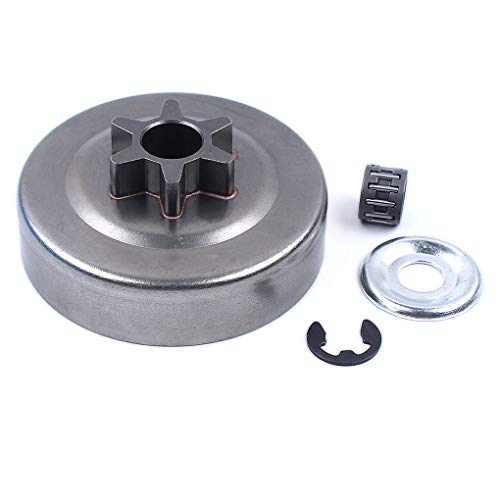 Republe 3 Pulgadas cojinete del Tambor de Embrague con piñón Embrague Lavadora E-Clip para Stihl MS170 MS180 MS210 MS230 MS250 Motosierra