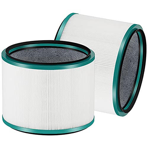 Cabiclean HP01 Ture HEPA Replacement Filter Compatible for Dyson Pure Hot + Cool Link HP01, HP02 and Dyson Pure Cool Link DP01, DP02 Air Purifier. Compare to Part # 968125-03. 2-Pack