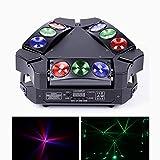 Teste mobili LED 9X10W RGB di luce mobili da DJ DMX512 Modalità di Controllo Vocale luci da palco per bar KTV Party Club Banda Matrimonio Palcoscenico da DJ