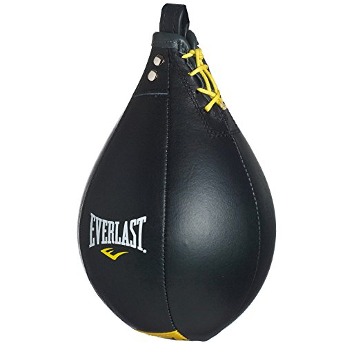Everlast Leather - Pera de boxeo, color negro, talla M