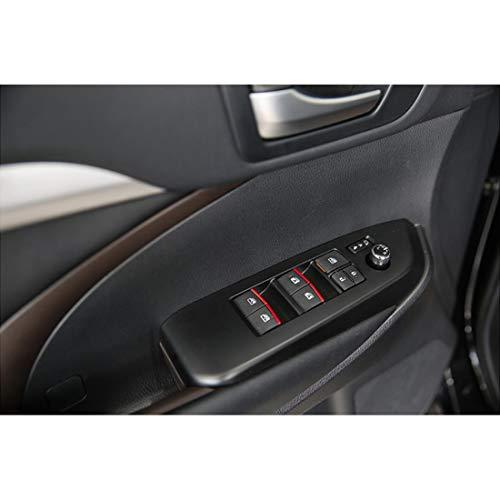 7pcs RED Window Lift Button Sequins Trim Fit for Toyota Camry Corolla RAV4 C-HR CHR Avalon Fortuner Hilux Prius Alphard Vellfire Highlander Sienna 2019-2021