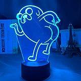 Mickey Mouse cabeza holograma 3D lámpara luces nocturnas para niños dormitorio iluminación decorativa regalo frío para la decoración de Navidad luces