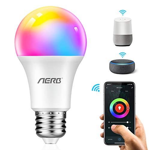Bombilla Inteligente Aerb LED WIFI E27 10 W Multicolor