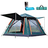 Pop Up Tent with Moisture-Proof Mat Portable Easy Instant Tent for 1 2
