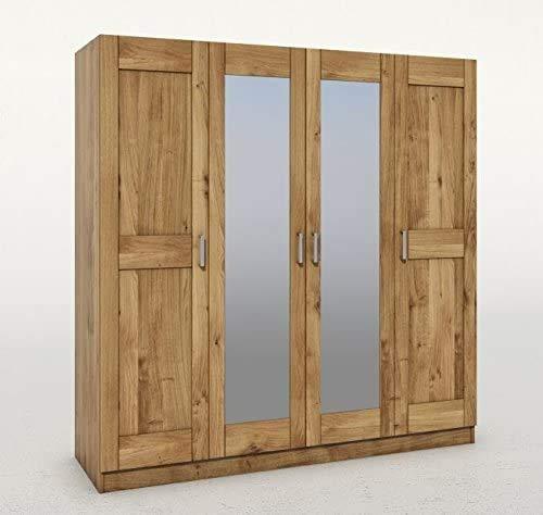Eternity-Moebel24 Kleiderschrank Schlafzimmerschrank Schrank in Wildeiche teilmassiv geölt mit 2 Spiegeltüren