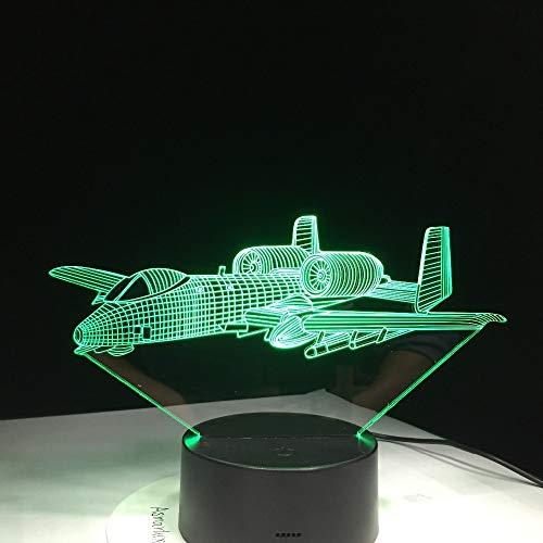 Nur 1 Artikel War Plane Fly Flugzeug Schreibtischlampe Baby Schlafzimmer Schlaf Beleuchtungskörper Dekor Geschenke