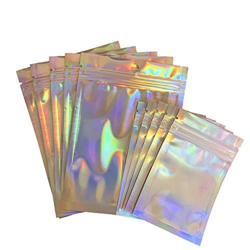 rongweiwang 100st Resealable Zip-lock zakje Voedsel-opslag levert Plastic Folie Zakken Plastic Smell-proof Pouch Feestartikelen, 7x10cm