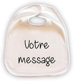 Grand bavoir pour bébé personnalisable - Cadeau original - Message au choix