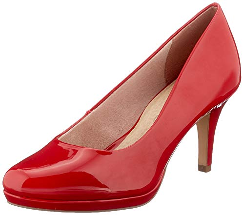 Tamaris Damen 1-1-22444-24 Pumps, Rot (Chili PATENT 520), 39 EU
