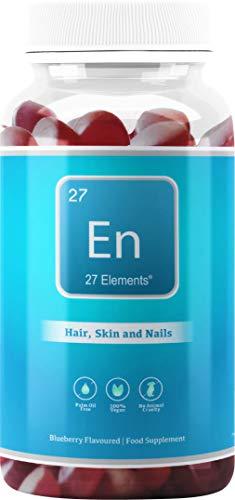 Biotin Hair Growth + Multivitamin Gummies | Two Months Supply - 60 Vegan Gummies | Biotin = 300% NRV | Chewable Beauty Vitamins for Adults & Children | Gluten & Palm Oil Free | Made in the UK