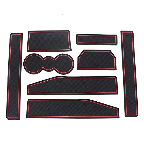 Custom Fit Beker, Deurmatten Gate Slot Mat Cup Pads Anti-slip Anti-stof Deur En Center Console Liner Accessoires Deur, Console Liner Accessoires Auto Accessoires Voor E-v-o-q-u-e 2012-2018