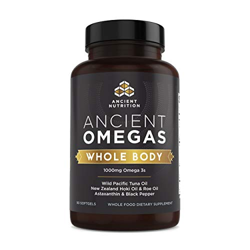 Ancient Nutrition Ancient Omegas Whole Body - ALA, DHA, EPA, ETA from Wild Caught Fish - 90 Capsules…