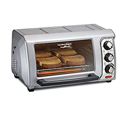 Hamilton Beach 31339 Easy Reach Toaster Oven with Roll-Top Door,Silver
