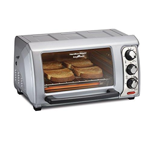 Easy Reach Toaster Oven with Roll-Top Door,Silver - Hamilton Beach 31339