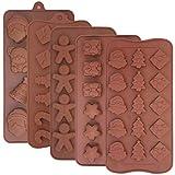5pcs de Noël en silicone Chocolat Moules, Finegood Candy Jelly plaques de cuisson pour Vacances fête Décoration de...