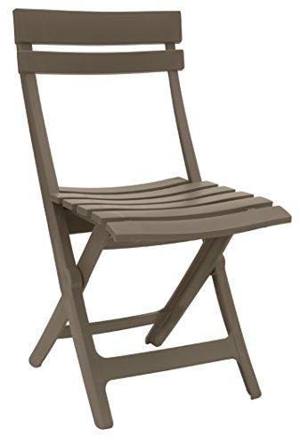 GROSFILLEX 49036181 Miami Chaise Pliante, Taupe, 50 x 42 x 80 cm