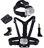 LONDON FAB, Elastic Chest and Head Harness, Strap, Mount, compatible with Gopro and most <span class='highlight'>action</span> <span class='highlight'>camera</span>s