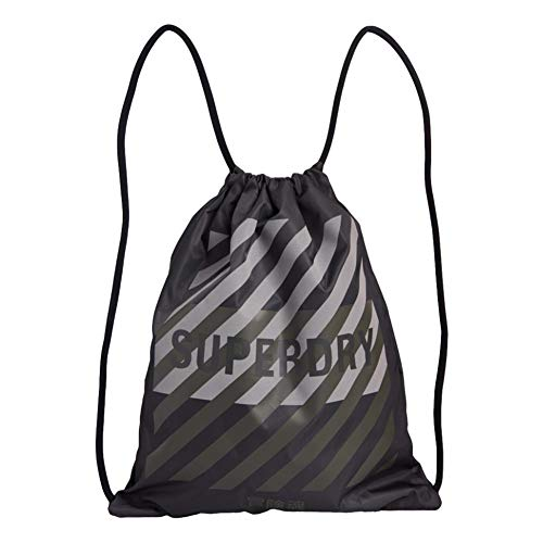 Superdry Reflective Drawstring Bag - Army Khaki