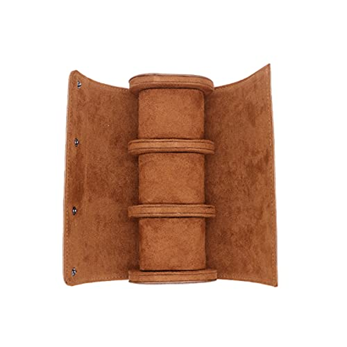 Beifeng Reloj multifuncional rollo de viaje caso de cuero reloj rollo caja reloj rollo organizador para hombres