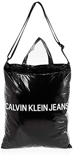 Calvin Klein - Wet Tyvec Ckj Market Tote, Mochilas Mujer, Negro (Black), 1x1x1 cm (W x H L)