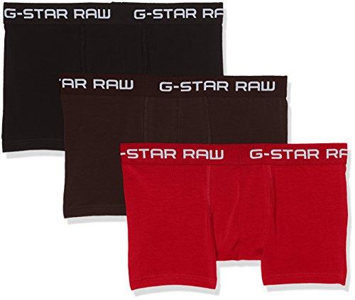 G-STAR RAW Herren Classic Trunk CLR 3 Pack Boxershorts, Mehrfarbig (Dk Flame/Deep Bordeaux/Bl 8527), Large (3er Pack)