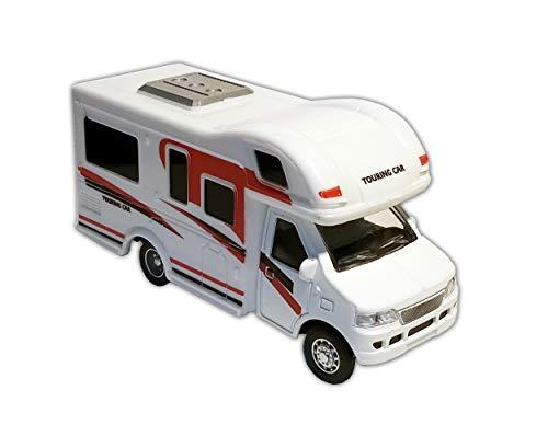 Toys Wohnwagen Wohnmobil Rückzug 12cm Camper Camping Modellauto 2-Varianten Spielzeugauto 91 (Rot)