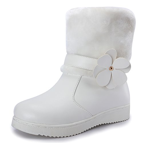 Child White Fur Boots