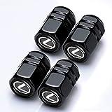 Car Wheel Tire Valve Stem Caps Logo Personality Modification Valve Cap Modeling Accessories Suit for Lexus RX350 UX200 NX300 IS300 ES350 GS350 GX460 LX570 RC300 LC500 (4PCS Black)