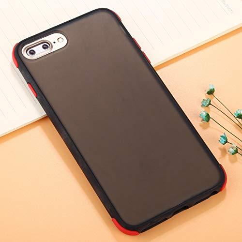 NANSHAN PHONETABLETCASE+ / for 苹果手机 8 Plus & 7 Plus TPU + PC Cobertura Completa de la PC Funda Protectora contra la caída Protección de la Cubierta de la Cubierta a Prueba (Color : Black+Red)