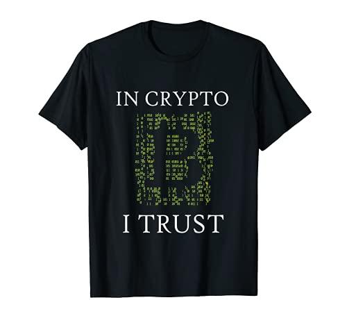 In Crypto I Trust Krypto Currency Trading Kryptowährung T-Shirt