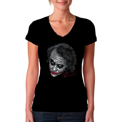 Im-Shirt - Heath Ledger: Serious Joker Cooles Fun Girlie Schwarz S