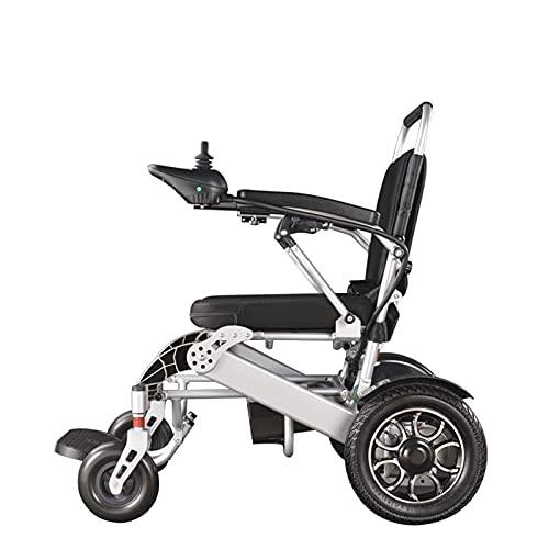 FGVDJ Scooters para Personas Mayores con discapacidades Silla de Ruedas eléctrica Plegable, Puede abordar un avión Marco de Aluminio de Alta Resistencia Motorreductor de 5