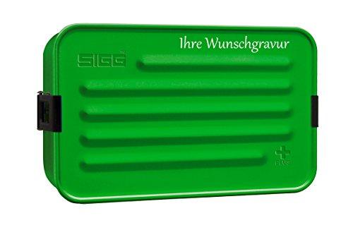 TR Frühstücksdose SIGG Metal Box 'Plus' – L, grün, mit persönlicher Wunschgravur