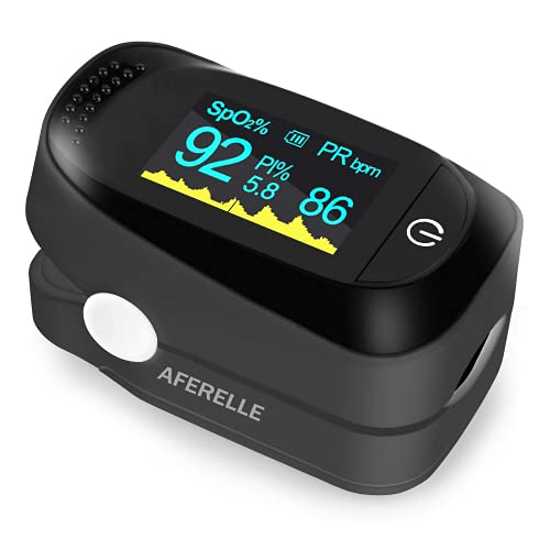 AFERELLE™ Premium Pulse Oximeter Digital Fingertip - VPO6 - Blood Oxygen SpO2 & Pulse Monitor with Alarm Function OLED Four Directional Display(CE Certified, MEDNET Germany)