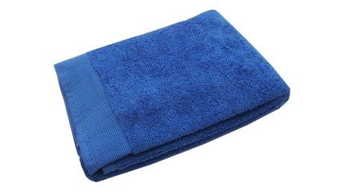 Blanc des Vosges Eponge unie Carre de Toilette Coton Bleu Royal 30x30 cm