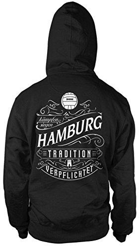 Mein leben Hamburg Kapuzenpullover | Freizeit | Hobby | Sport | Sprüche | Fussball | Stadt | Männer | Herren | Fan | M1 FB (M)