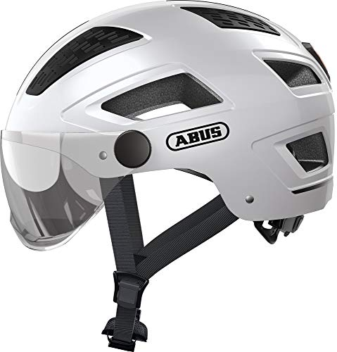 ABUS Unisex-Erwachsene HYBAN 2.0 ACE Fahrradhelm, Weiß (polar white), L (Groß)