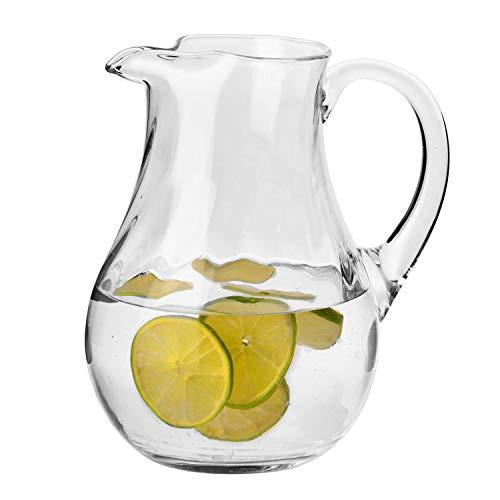 Krosno Grande Jarra Agua Zumo Cristal | 1600 ML | Romance Collection Uso en Casa, Restaurante y en Fiestas