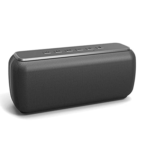 SMSOM Altavoz portátil Bluetooth, Sonido estéreo Claro de Cristal, Sonido Envolvente Completo de 360 °, bajo Mejorado, Pareja Dual inalámbrica, Impermeable, Tiempo de Juego de 15 Horas