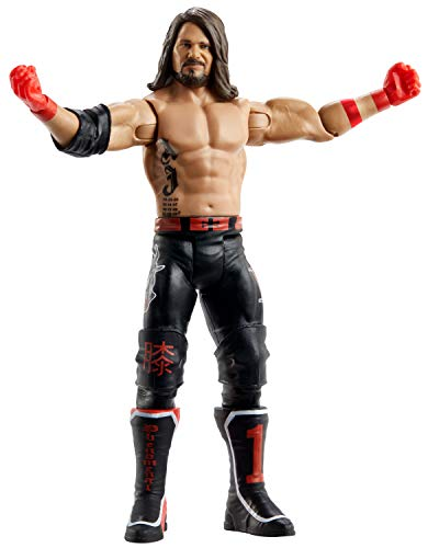 WWE AJ Styles Basic Series #108 Action Figure in 6-inch Scale with Articulation & Ring Gear