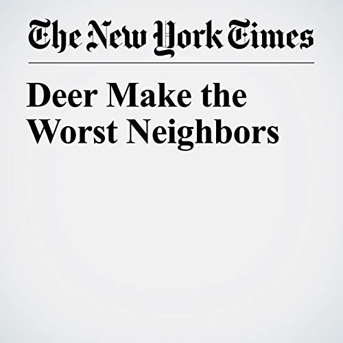 Deer Make the Worst Neighbors copertina