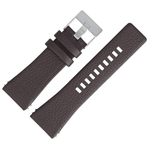 Diesel DZ-1114 - Correa de piel para reloj de pulsera, 30 mm, color marrón