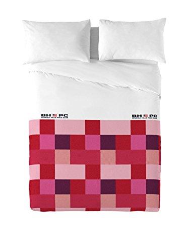 Beverly Hills Polo Club Juego De Funda Nórdica Atlanta Rojo/Rosa/Blanco Cama 150 (240 x 220 cm + 2/50 x 90 cm)